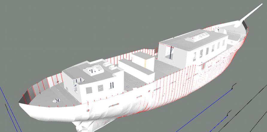 3Д модель корабля
