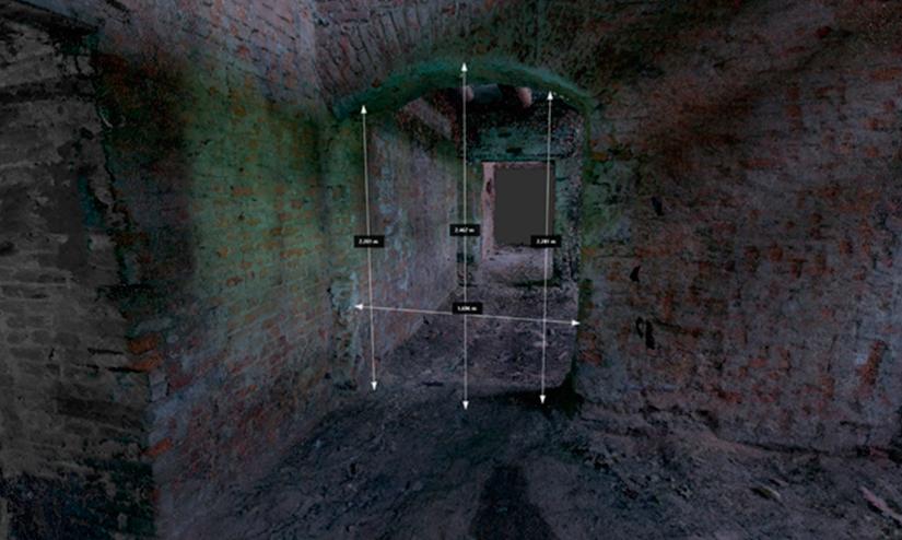 ReCap – режим RealView – измерения (снимок экрана)